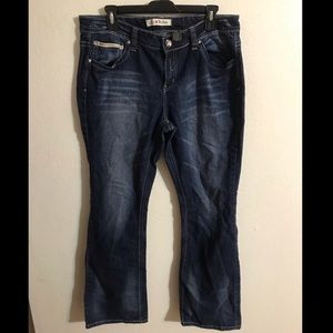 Love Nation distressed blue jeans size 12